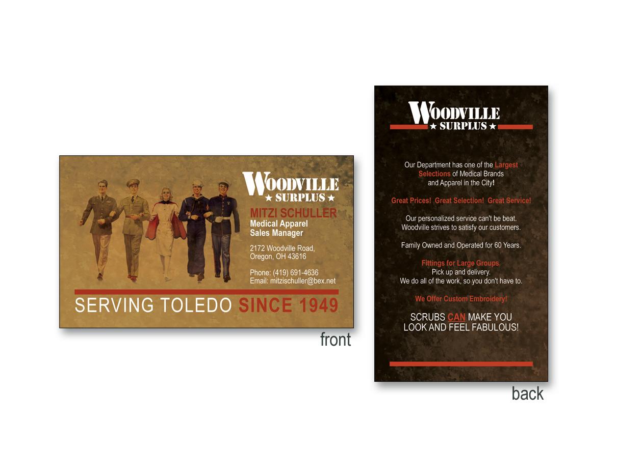 Woodville Surplus Business Card David Castlegrant And